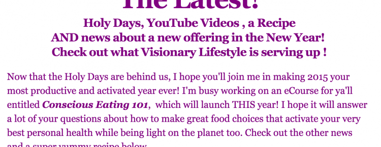 the latest from visionary lifestyle