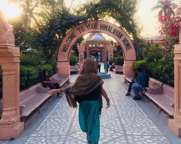 walking in ashram